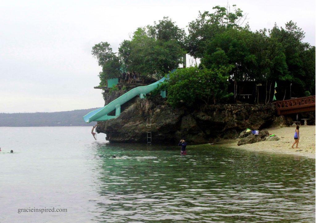 Slide your way into the sea or cliff dive