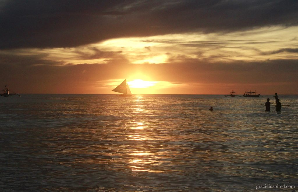 Sunset with a Sailboat